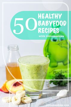 Little Mashies Peachy Keen Green - 50 Healthy baby food pouch recipes littlemashies.com/free