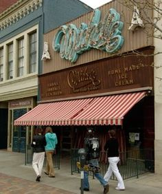 Iconic ice cream parlor MICHELLE's in Colorado Springs, CO. Founded in 1951 by John Michopolous, who named the restaurant after his French wife. Sadly, Michelle's closed its doors in 2007. :'(