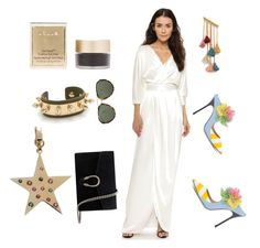 """""""Dress up in white"""" by mkrish ❤ liked on Polyvore featuring Black Halo, Gucci, Aurélie Bidermann, Stila, Ben-Amun, Loquet, Linda Farrow and Giannico"""