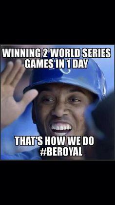 Sweet! Kc Royals Baseball, Baseball Season, No Crying In Baseball, Home Team, Kansas City Royals, World Series, Salvador, Champs, Addiction