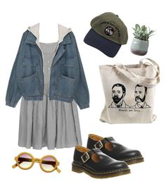 """""""......"""" by mikaela-obrien ❤ liked on Polyvore featuring Cabbages & Roses, Dr. Martens and Torre & Tagus"""