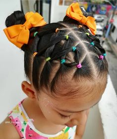 Rubber Band Hairstyles, Girls Natural Hairstyles, Natural Hairstyles For Kids, Baby Girl Hairstyles, Toddler Hairstyles, Pelo Color Vino, Hair Designs For Girls, Curly Hair Styles, Natural Hair Styles