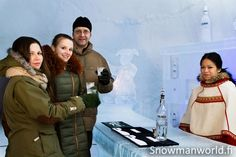 Ice bar of the Snowman World in Rovaniemi in Lapland
