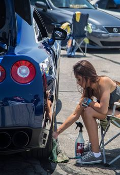 Just cleaning my Nissan GTR