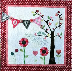 Valentine Quilt Wall Hanging - Let Me Call You Tweet-Heart--I think this is adorable!