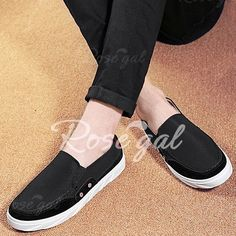 Concise Splicing and Round Toe Design Casual Shoes For Men