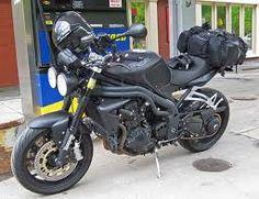 Nice tail pack, great matt black color Triumph Street Triple, Motorcycle, Bike, Adventure, Color, Black, Bicycle Kick, Colour, Black People