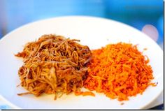 Spicy Carrot Hash from Ancestral chef. Spiced with paprika and cumin. Shown here with ropa vieja (shredded beef). #paleo