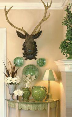 Joy Tribout Interior Design- green plates!
