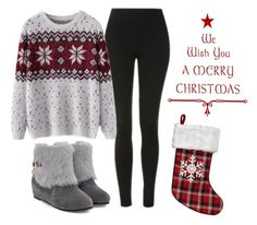 """""""Outfit #161 - Christmas Spirit"""" by catytomlinson95 ❤ liked on Polyvore featuring Topshop, Chicnova Fashion and WALL"""