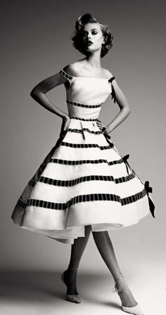 1950's ~ Frida Gustavsson in Dior Haute Couture by Patrick Demarchelier!