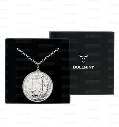 2013 UK Great Britain Silver Britannia 1oz Pendant- COIN EDGE in a Bullmint display box