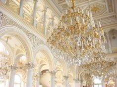 Winter palace interior, St. Petersburg, Russian Federation