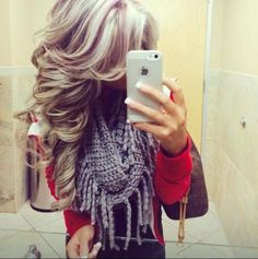 Blonde with red lowlights does anybody know were I can get this done