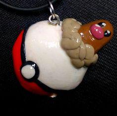 Diglett Pokemon Pendant by squidhop on Etsy