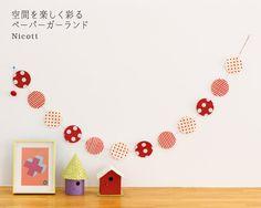 【楽天市場】ペーパーガーランド パターンボール(透き紙モビール/クリスマス 正月 飾り ドット 水玉 MOBILE)【05P03Sep16】:シゼム楽天市場支店