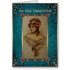 Valentines Day - Elegant Lady with Rose. Valentines Day - Greeting Cards in Vintage Style Vintage Valentine Cards, Valentine Day Cards, Vintage Style, Vintage Fashion, Valentine's Day Greeting Cards, Elegant Lady, Create Your Own, Best Gifts, Rose