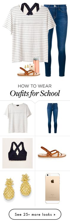 """OO8. school // Jasmine"" by southern-prep-gals on Polyvore featuring Aerie, Frame Denim, A.P.C., CamelBak, K. Jacques and Kevin Jewelers"