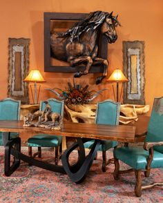 Turquoise And Orange Design Southwestern Decorating