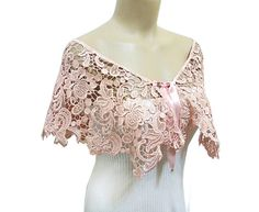 Free Shipping Lace Capelet Bridal Top Wear Shrug by HAREMDESIGN, $93.00 Peach Costume, Bridal Tops, Capelet, Couture, Classic Outfits, Cotton Lace, Fashion Outfits, Womens Fashion, Costume Design