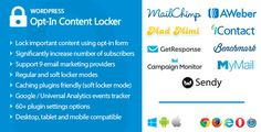 Opt-In Content Locker for WordPress by halfdata Opt-In Content Locker is a plugin that allows to lock important content on your WordPress website and display it for subscribed users only. All you need to do is to wrap protected content with shortcodes [optinlocker]...[/optinloc