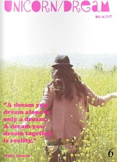 Unicorn Dream magazine july/2011 #photography #crafts #vintage #fashion #bimonthly #free