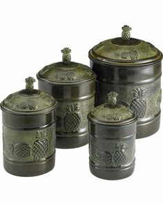 Old Dutch Jars  for Sugar, Tea, Coffee and Sugar cubes