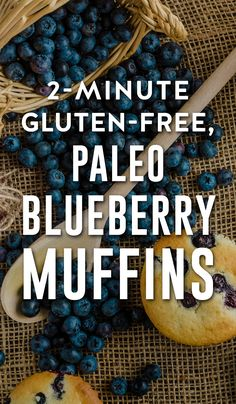 Try making these paleo blueberry muffins for a fast and easy breakfast. Not only are they gluten-free, but the ease of making them will blow your mind.  These low sugar 2-minute muffins taste amazing and are low in sugar while being high in protein and fiber.