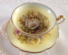 Artist Signed EB Foley China Tea Cup & Saucer by TheEclecticAvenue