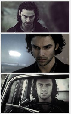 Aidan Turner/Mitchell. Yum>>I love his fluffy hair in that middle photo, yassss