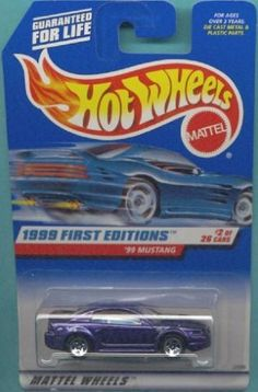 Mattel Hot Wheels 1999 First Editions 1:64 Scale Purple 1999 Ford Mustang Die…