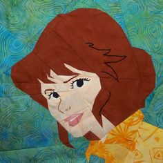 "April O'Neil by Schenley Pilgram 10"" paper pieced & embroidery, free on fandominstitches.com"