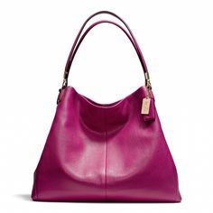 The Madison Phoebe Shoulder Bag in Leather from Coach - this bag with a manicure to match...love!