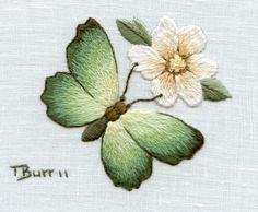 Wonderful Ribbon Embroidery Flowers by Hand Ideas. Enchanting Ribbon Embroidery Flowers by Hand Ideas. Crewel Embroidery Kits, Butterfly Embroidery, Paper Embroidery, Learn Embroidery, Silk Ribbon Embroidery, Hand Embroidery Designs, Embroidery Patterns, Embroidery Supplies, Embroidery Needles