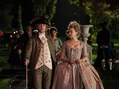 Sarah Gadon and Tom Felton as Lady Elizabeth Murray and James Ashford in the 2013 film Belle. 18th Century Dress, 18th Century Costume, 18th Century Fashion, 17th Century, Period Costumes, Movie Costumes, Broadway Costumes, Versailles, Sarah Gadon
