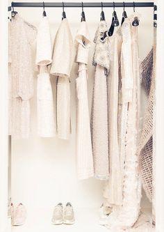 Black & White and Bits of Gold closet