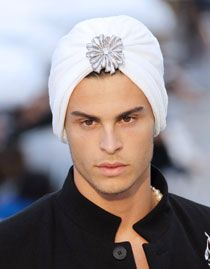 Chanel is making man-turbans. Can I get a woop woop for innovative international diplomacy and cross cultural awareness.