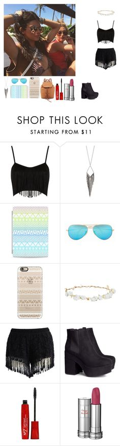 """""""Coachella 2"""" by rosemie ❤ liked on Polyvore featuring Topshop, Jules Smith, Casetify, Ray-Ban, Robert Rose, Chicwish, H&M and Lancôme"""