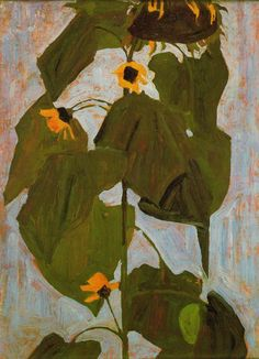 Sunflower I – Egon Schiele (Austrian, 1890–1918)