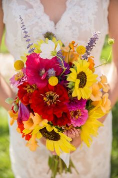 DIY Wildflower Bridal Bouquet