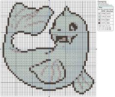 Pokémon – Dewgong 50x50 - 60x60, A - D, Animals, Birdie's Patterns, Dewgong, Gaming, Pokémon, Seals 0 Comments Aug 152012