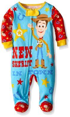 Disney Baby-Boys Newborn Toy Story One Piece Blanket Sleeper, Red, 0-3 Months
