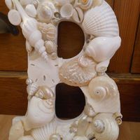 Beach Decor Shell Letters - White Shell Letters
