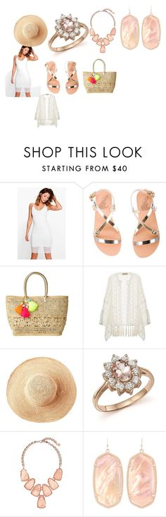 """""""summer fun day ware"""" by andreadarmstead on Polyvore featuring Boohoo, Ancient Greek Sandals, Lilly Pulitzer, ADRIANA DEGREAS, Toast, Bloomingdale's and Kendra Scott"""