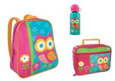 Stephen Joseph Go Go Backpack, Lunchbox, Stainless Steel Bottle Set, Teal Owl   - Click image twice - See a larger selection of little girls backpacks at http://kidsbackpackstore.com/product-category/little-girls-backpack/ - kids, juniors, back to school, kids fashion ideas, school supplies, backpack, bag , teenagers, girls, boys, gift ideas