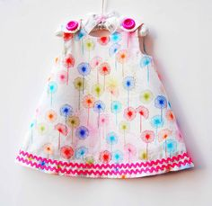Rainbow Wildfield in Gypsy - Rainbow Dress - Special Date - Gifts - Girls Clothing - Toddler Girls Dress - Children Clothing - 3M to 4T. $38.00, via Etsy.