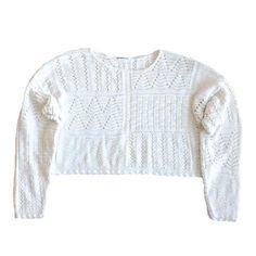 Vintage Long Sleeve Crochet Crop Top. Vintage long sleeve crochet crop top. Hello 90s! Vintage Clothing, Vintage Outfits, Crochet Crop Top, Vintage Shops, Crop Tops, Long Sleeve, Sweaters, Cotton, Clothes