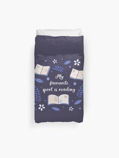 My Favourite Sport Is Reading Duvet Cover.<br><br>Shout out to sport lovers with this perfect My Favourite Sport is Reading design. Explore your favorite library or bookstore for a unique read. A great design for the book nerd or bookworm reader. Spend memorable time with the storyteller in your life.  #reading #bookworm #booklover  #giftideas #fashion #homedecor #artsandcrafts #stickers #redbubblestickers #redbubble #art #redbubbleshop #ad @giftsbyminuet Red Bubble Stickers, Your Favorite, My Favorite Things, Book Nerd, Shout Out, Book Lovers, The Book, Book Worms, Storytelling