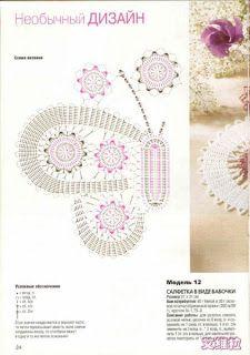 Croche maravilha de arte: Toalhinha ...borboleta