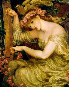 Dante Gabriel Rossetti. A Sea Spell - Pre Raphaelite Art